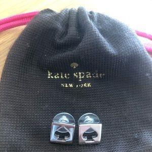 ⬇️ Kate Spade Silver Logo Earrings